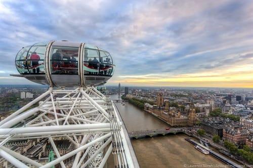 London eye at sunset london