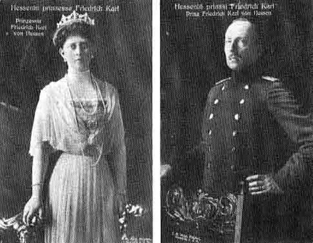 Margarita de Prusia y esposo