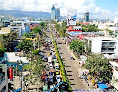 cebu city osmeña street top view photo 2011