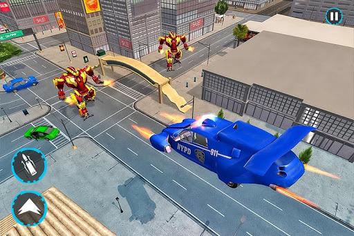 Flying Police Car Robot Transform Games 0.1 screenshots 2