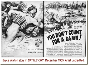 BATTLE CRY, Dec 1955. Bryce Walton story