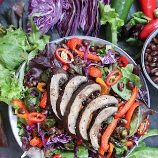 Grilled Portobello Mushroom and Bell Pepper Salad.