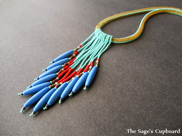 Blue Cobra Necklace