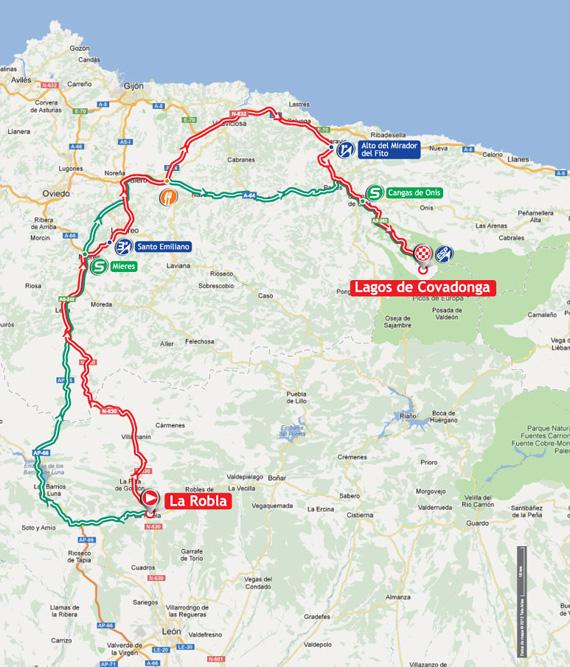 La Vuelta 2012. Etapa 15. La Robla – Lagos de Covadonga. @ Unipublic
