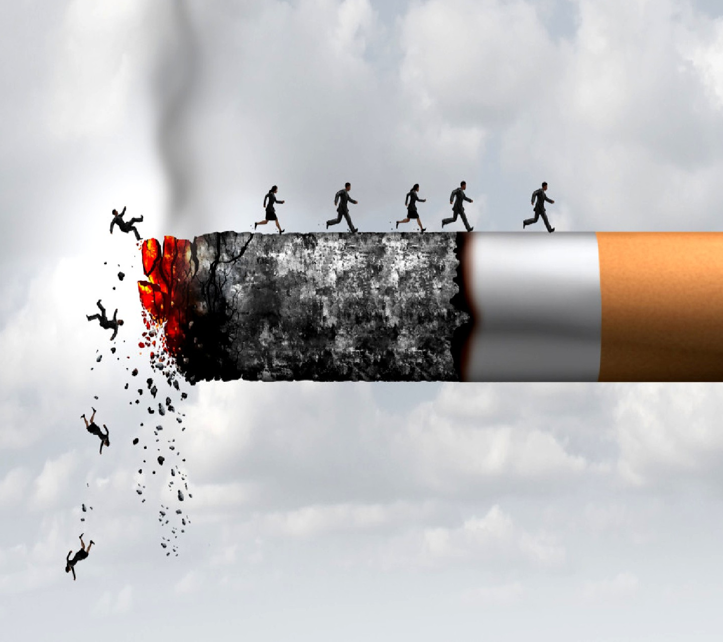 Smoking Kills Burning Cigarette Wallpaper
