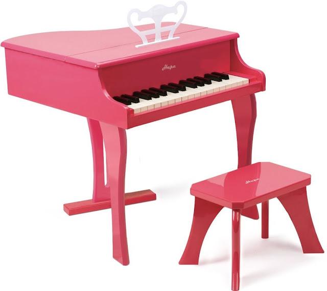 Nhạc cụ đồ chơi Đàn Piano màu hồng bằng gỗ Hape E0319 Happy Grand Piano - Pink