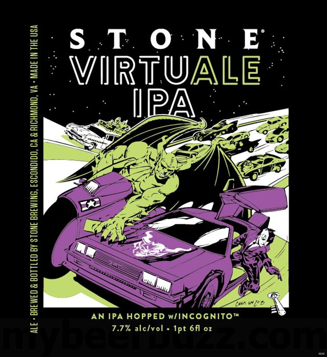 Stone Adding NEW VirtuAle IPA Bottles