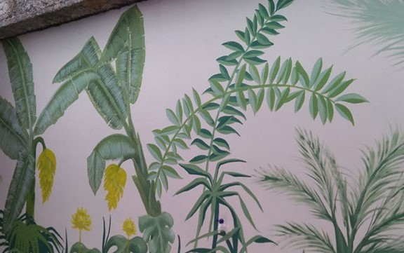 Jasa Pembuatan Lukisan Mural Daun Paling Unik