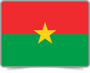 Burkinabé framed flag icons with box shadow