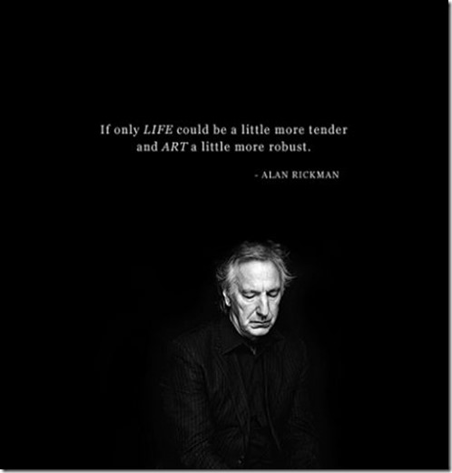 Alan Rickman Art Robust