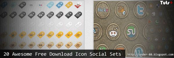 20 Awesome Free Download Icon Social Sets