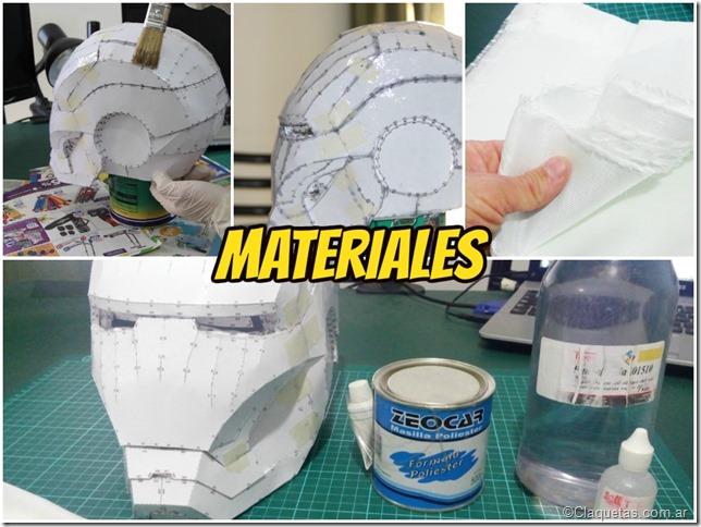 Materiales Resinado - Tutorial Iron Man - Pepakura