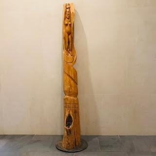 Jill Newell Hand-Carved Wood Sculpture