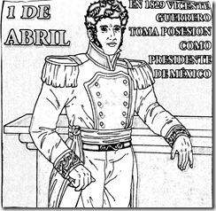 Vicente Guerrero para colorear | 1 de abril Vicente Guerrero toma posesión como presidente de México