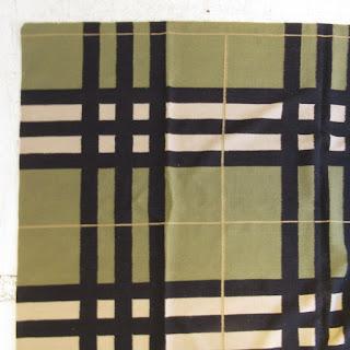 Oversized Plaid Wool Area Rug 1