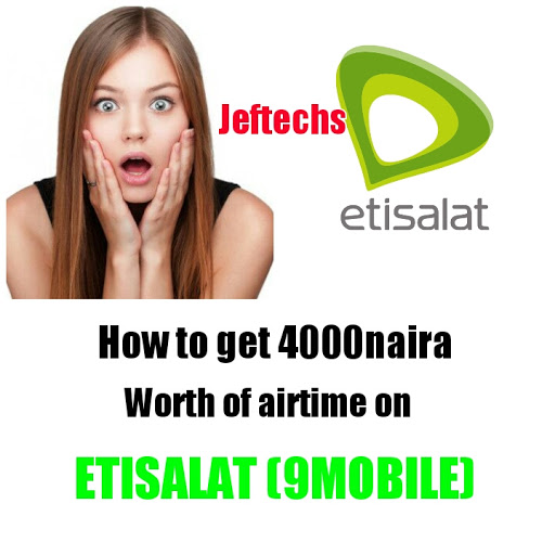 How To Get Free 4000naira Worth Of Airtime On Etisalat.