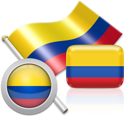 Colombian flag icons pictures collection