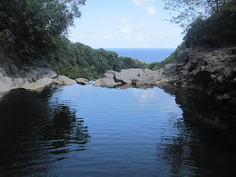 Infinity Pool... a 200' waterfall is just on the other side of the lip. Fun swimming, but don't get too close.
