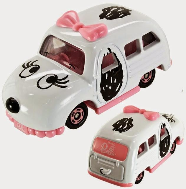 Mô hình xe ô tô Dream Tomica Snoopy's Sister Belle thật sinh động và đẹp mắt