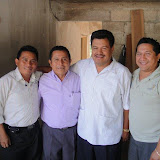 From left to right: Carlos Baeza, Eucepio Pech, Manuel Diaz, Antonio Mendez