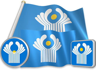 CIS flag animated gif collection