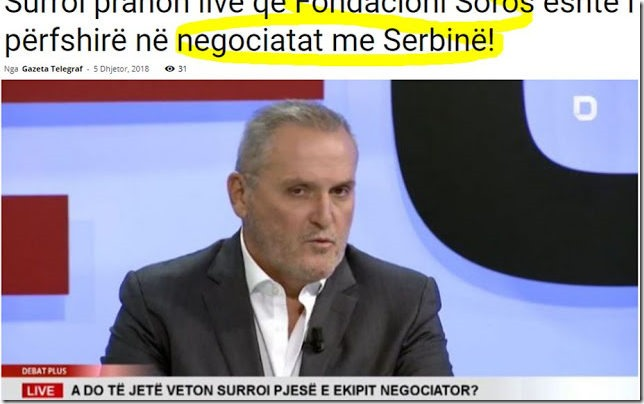 Το Ίδρυμα του Σόρος πίσω απο τις διαπραγματεύσεις Σερβίας-Κόσσοβου !