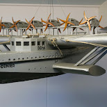 bizarre looking water plane: the dornier do-x at texel's war museum in Texel, Noord Holland, Netherlands