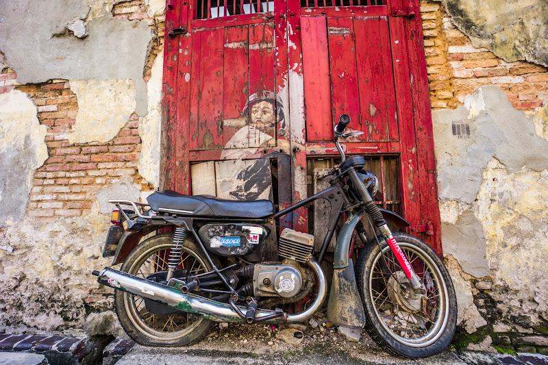 ペナン ジョージタウン ストリートアート Old Motorcycle1