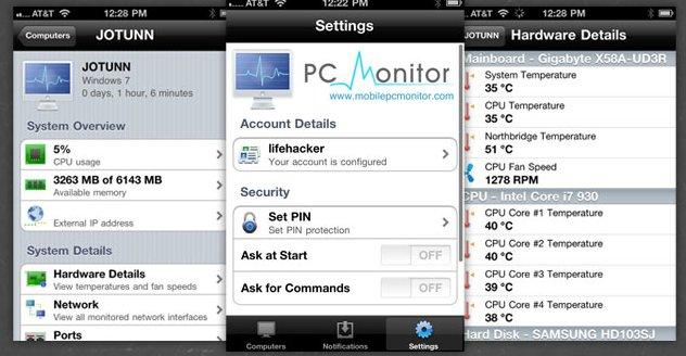 PC Monitor – Aplicación para controlar el PC desde el teléfono o tablet