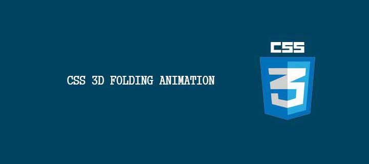 CSS 3D Folding Animation - Demo
