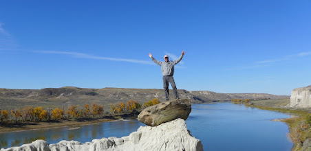 Photo: Somewhere in the middle of Montana - The White Cliffs of the Missouri River on a calm, sunny October day - no place I'd rather be.