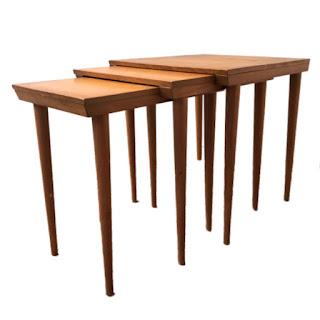 Mid-Century Nesting Table Trio