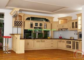 Tủ bếp gỗ tự nhiên BESM0111