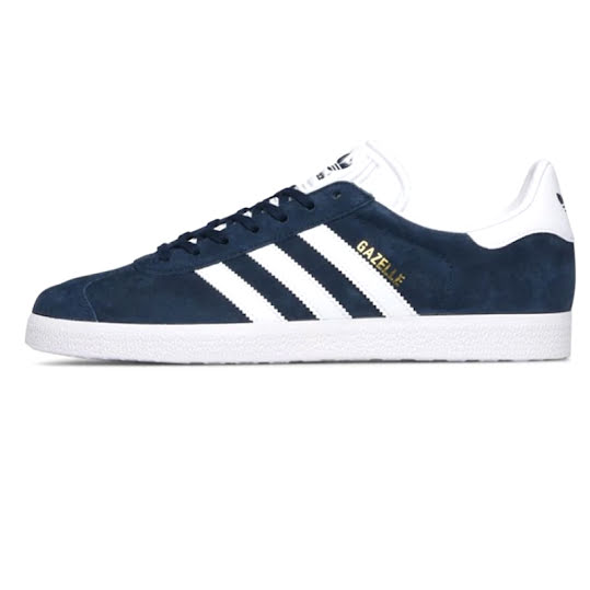 adidas Originals Gazelle Collegiate Navy/ White/ Gold Metallic Stl: 37 1/3