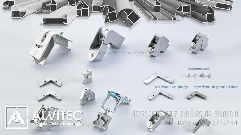 Accesorios para perfiles de aluminio