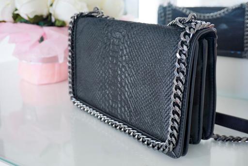 Fashion | Zara Snakeskin Effect Chain Bag