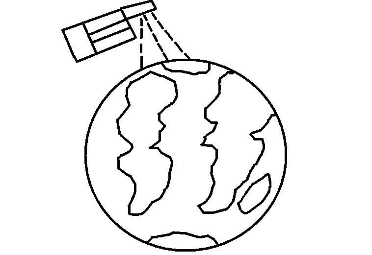 Desenhos Para Colorir Desenho Para Colorir De Satelite Planeta