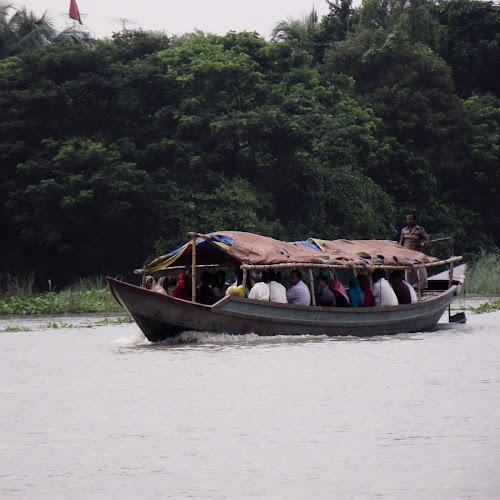 Boat with engine to transport passenger