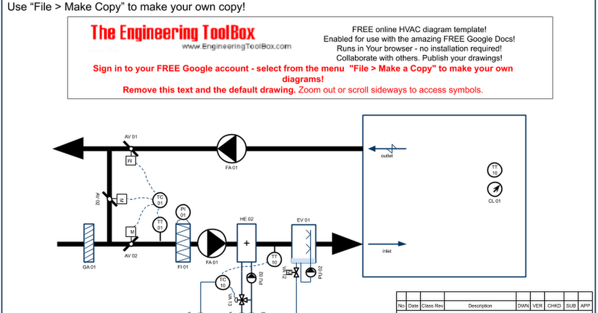 HVAC Diagram Template_o - Google Drawings | Hvac Drawing Symbols Free |  | Google Docs
