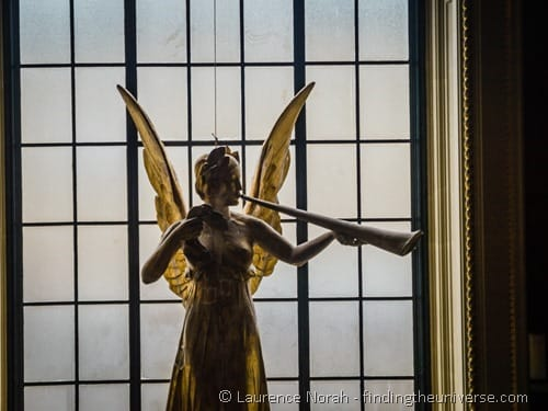Angel statue in Victoria and Albert Museum London