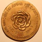 Achterkant bronzen gedenkpenning