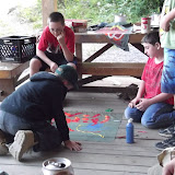 Craft Lodge...making patrol flags