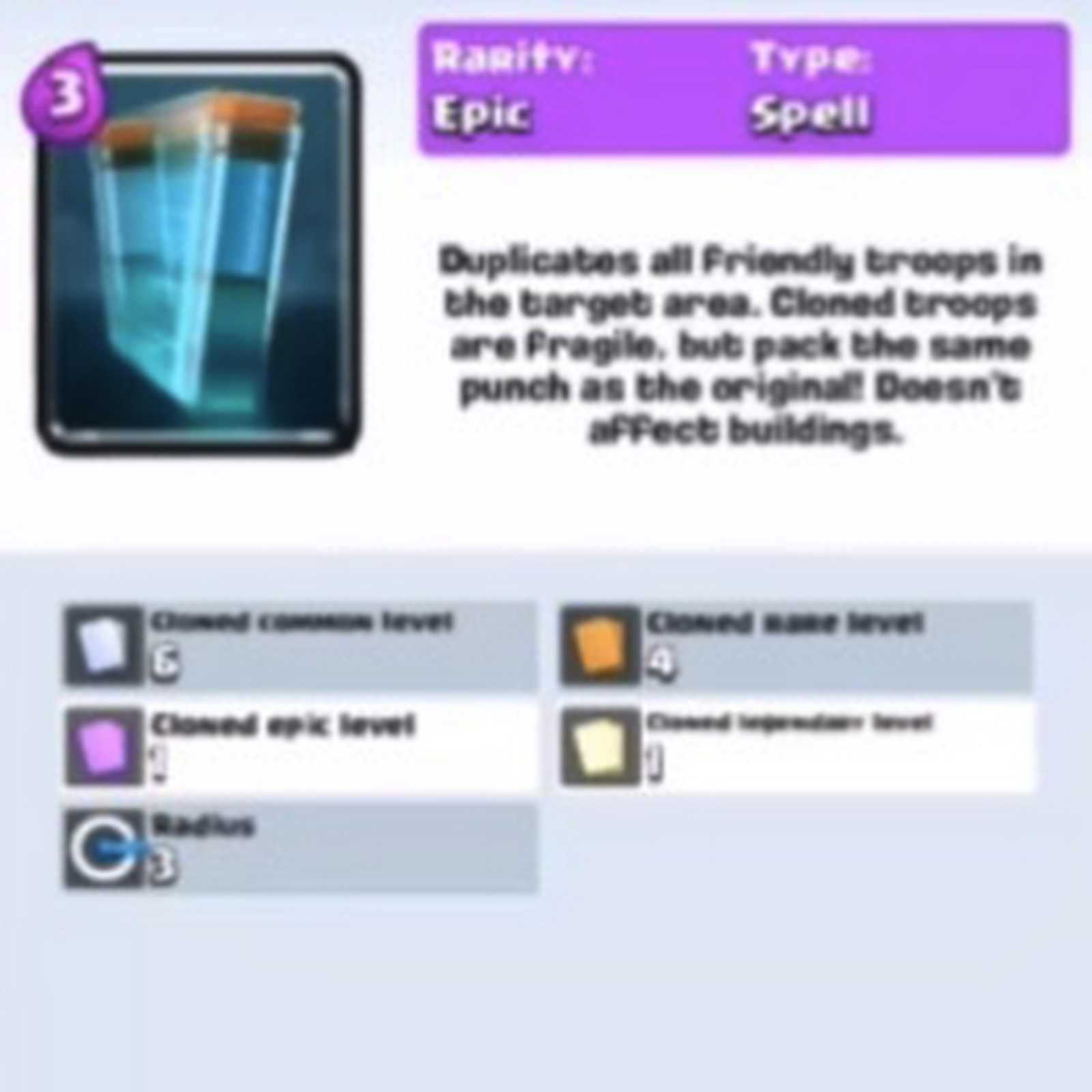 Clone Spell Clash Royale update (November 2017)