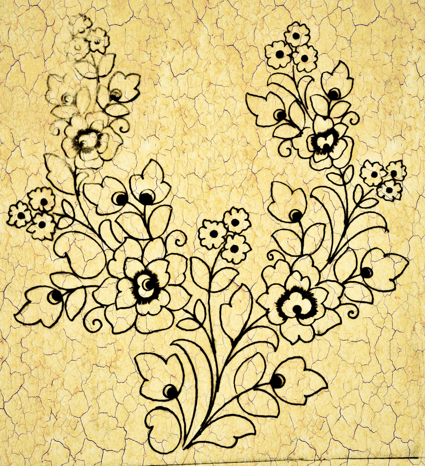 How to draw flowers design for embroidery/hand embroidery design drawing/free download top 3 embroidery design images.