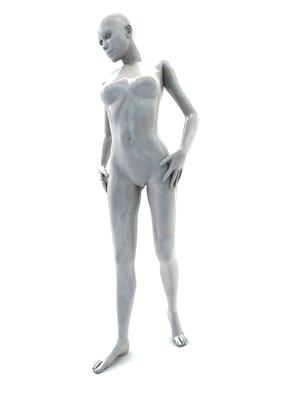 femme 3D pose artistique matiere nacre 3-01a