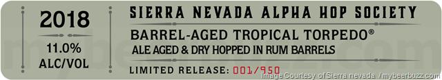 Sierra Nevada Alpha Hop Society Barrel-Aged Tropical Torpedo