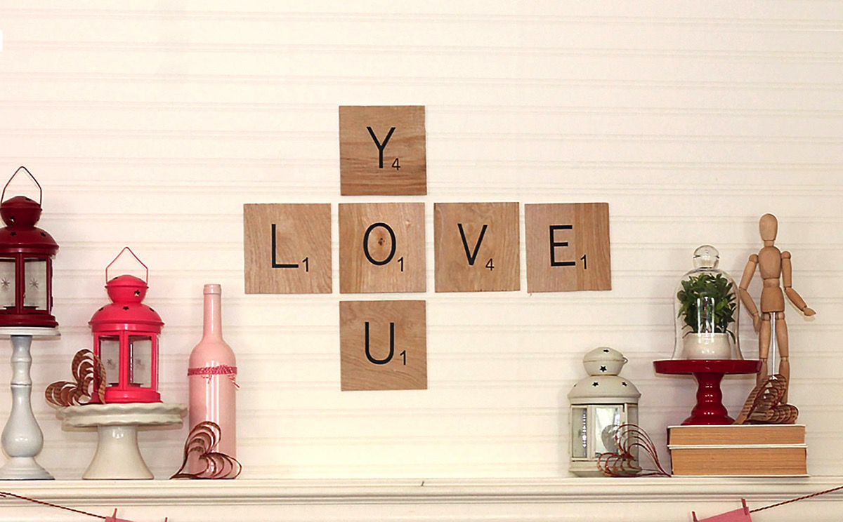 Plywood Scrabble Tiles