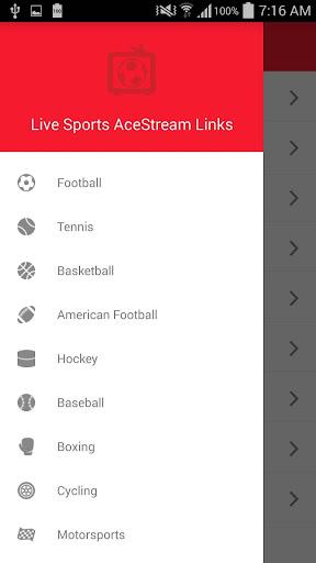 Live Sports AceStream Links