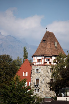 Historic architecture in Vaduz, Liechtenstein