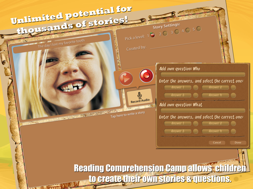 Reading Comprehension Camp Create Your Own Story Image 2